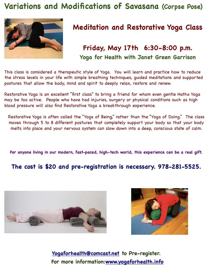 Yoga For Health - Janet Green Garrison